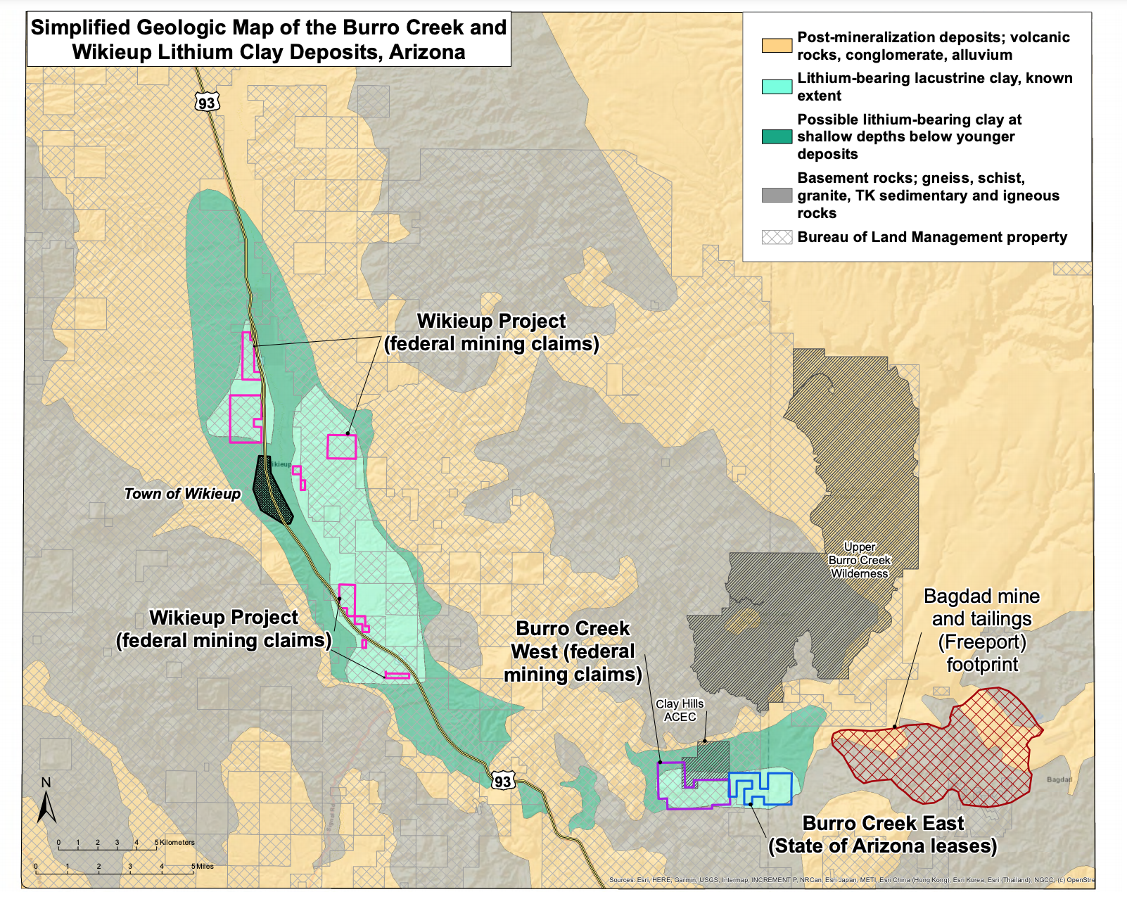 Wikieup and Burro Creek Projects Geology